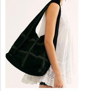 NEW free people heritage suede hobo bag tote